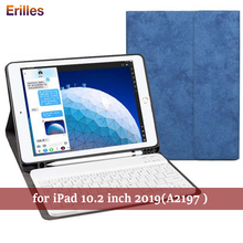 Wirelss Keyboard for iPad 10.2 2019 7th Gen Generation Case with A2197 A2200 Pencil Holder