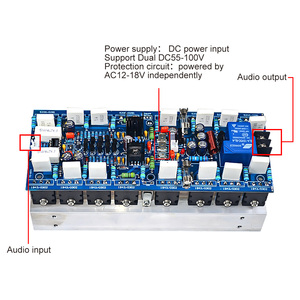 Image 3 - AIYIMA 1000W High Power Mono Channel Amplifier Board Professional Stage AMP Board With 5200 1943 Tubes For Sound Amplifiers DIY