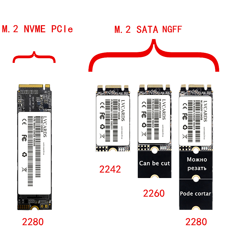 LVcards M.2 Ssd M2 128gb PCIe NVME 256GB 512GB 1TB Solid State Drive. 2280 M.2 SATA3.0 NGFF SSD For Laptop Desktop MSI Asrock ..