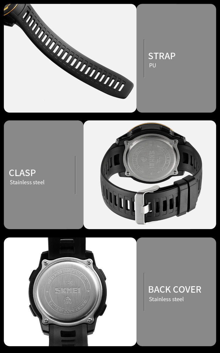 relógios de pulso homem digital qibla direção