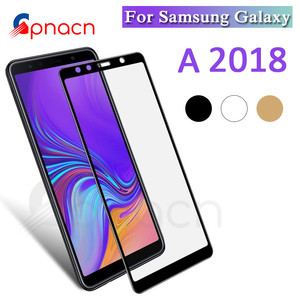 Image 1 - 9D Full Protective Glass on For Samsung Galaxy A3 A5 A7 2016 2017 A6 A8 Plus A9 2018 Tempered Screen Protector Glass Film Case
