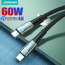 Joyroom 60W PD USB Type C Cable for iPhone 12 11 Pro Xs Max Fast Charging Charger for MacBook iPad Type-C USBC Data Wire Cord