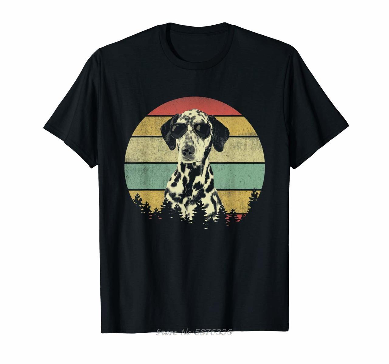 Vintage Dalmatian T-shirt Dalmatian Lover Gift Dog Dad Mom T Shirt For Men Women Male Female Girl Tshirts Funny Summer Tees