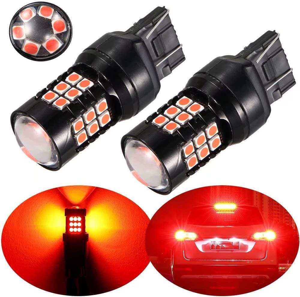 7443 красный 30-SMD мигающий 5-кратный стробоскоп светодиодный стоп-сигнал парковочные лампы