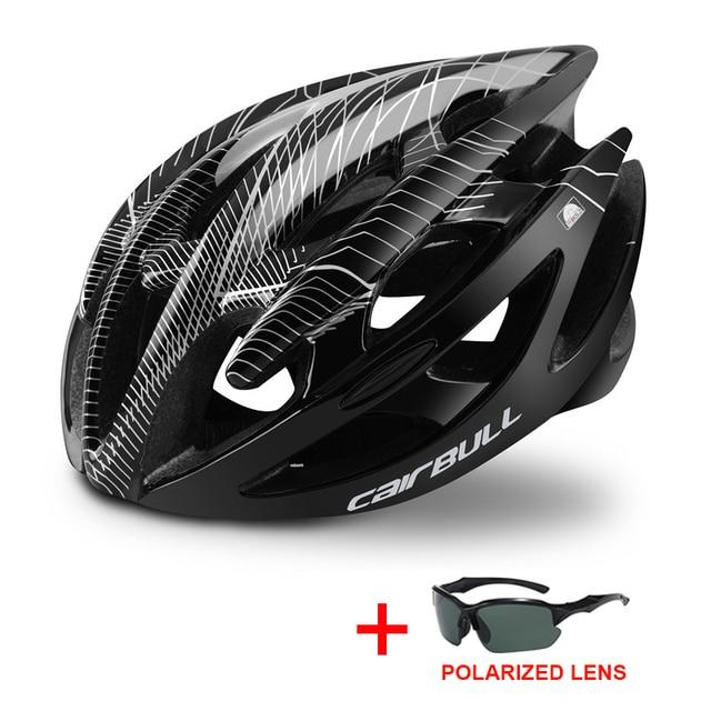 Profissional estrada mountain bike capacete com óculos ultraleve dh mtb todo o terreno capacete da bicicleta esportes equitação ciclismo capacete 3