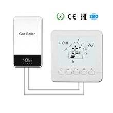Газовый котел термостат напольный нагревательный регулятор температуры цифровой Еженедельный Программируемый Терморегулятор с батареей АА