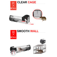 Nontoxic Rat Cage Catch Mice Rodent Control Catch Bait Hamster Mouse Trap Transparent Humane Live Mousetrap(China)