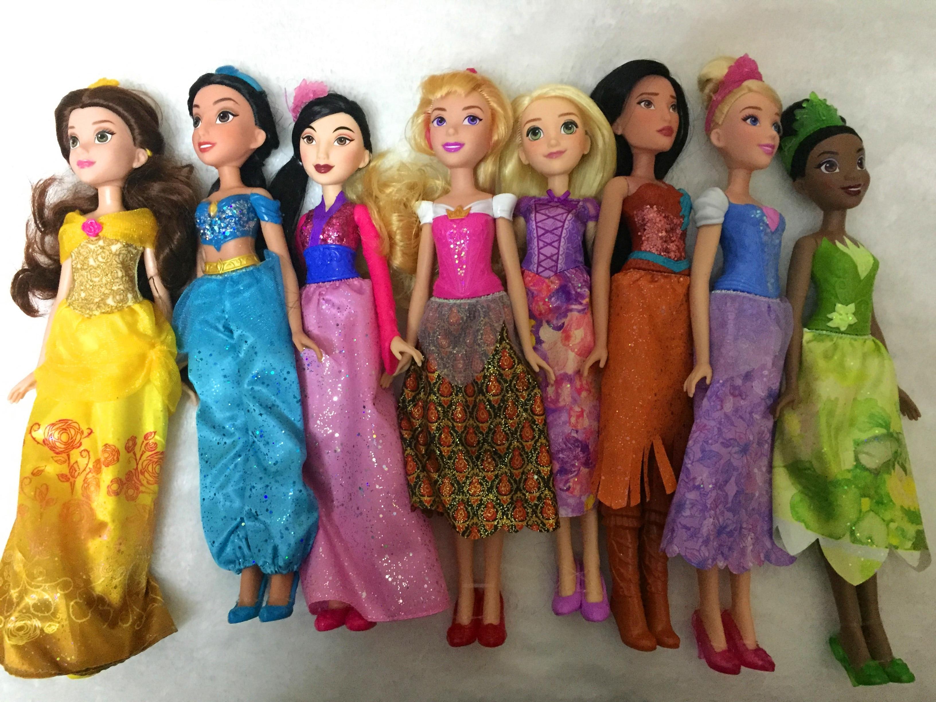 Raiponce poupées jasmin princesse poupée neige blanche Ariel Belle raiponce jouets pour filles Brinquedos jouets bjd poupées pour enfants enfants