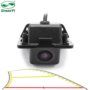HD Vehicle Trajectory Parking Line Car Rear View Reverse Backup Camera For Mitsubishi Outlander XL/ Outlander / Citroen C-Crosse