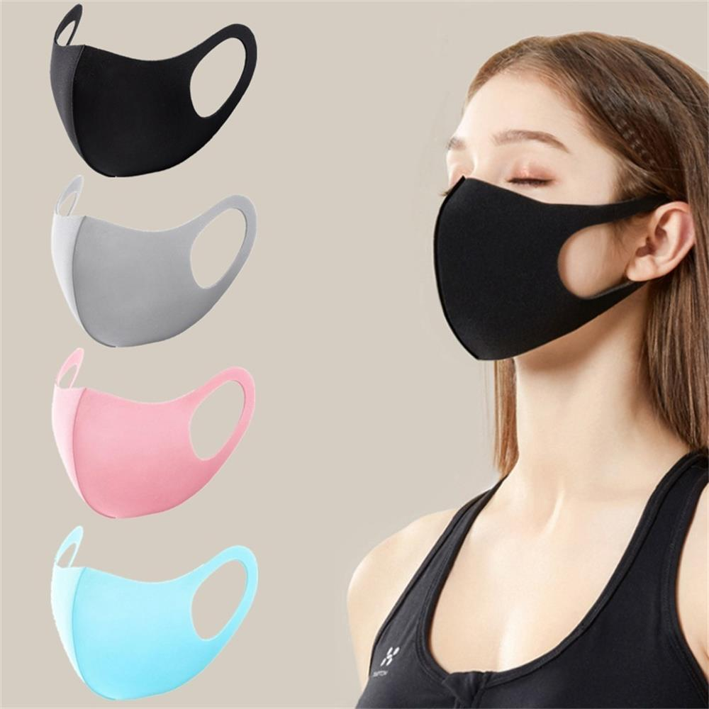 1PC Unisex Anti Haze Dust Mouth Mask Breathable Sponge Face Reusable Anti Pollution Face Shield Wind Proof Mouth Cover