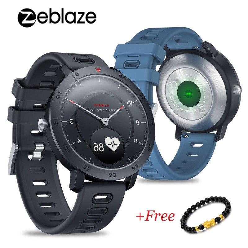 Bracelet Zeblaze montre intelligente hybride fréquence cardiaque tensiomètre météo sport Fitness Tracker Smartwatch hommes 2019