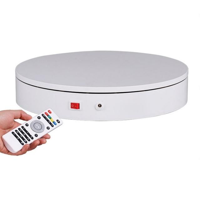 32cm 스마트 원격 제어 속도 방향 360 학위 자동 회전 사진 회전 턴테이블 디스플레이 스탠드 고품질