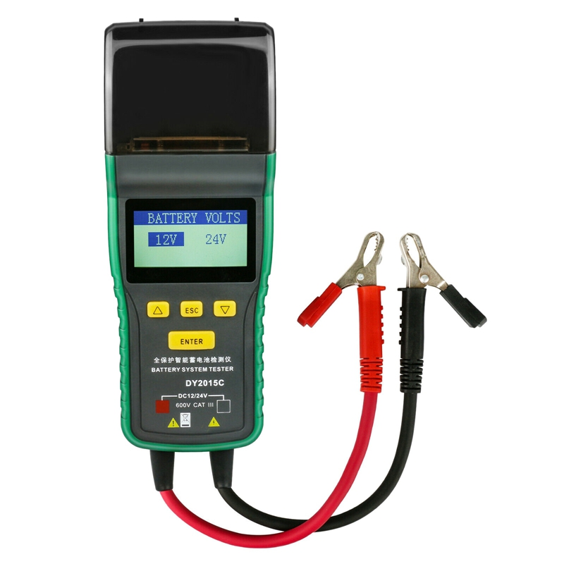 DY2015C Heavy Duty Truck Car Battery Load Tester 12V 24V Lead Acid Battery with Printer|  - title=