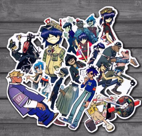 150sets Gorillaz Cool <font><b>Sticker</b></font> (10Pcs /Lot) image