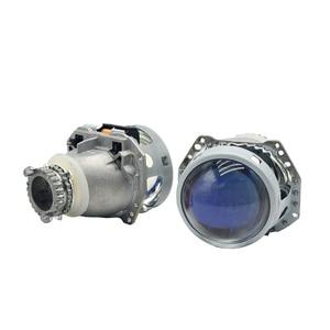 "Image 2 - 3.0 ""revestimento azul de metal completo h4 hella5 hid bi xenon retrofit farol do carro para d2s d2h xenon bulbo montagem do carro farol modificar"