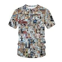 Anime comic 3d impressão camiseta manga uma peça masculina moda streetwear o pescoço t camisa harajuku camisetas topos masculinos roupas