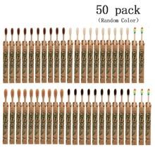 EcoFriendly Toothbrush Natural Bamboo Toothbrush Wood Toothbrushes Soft Bristles Capitellum Fiber Toothbrush