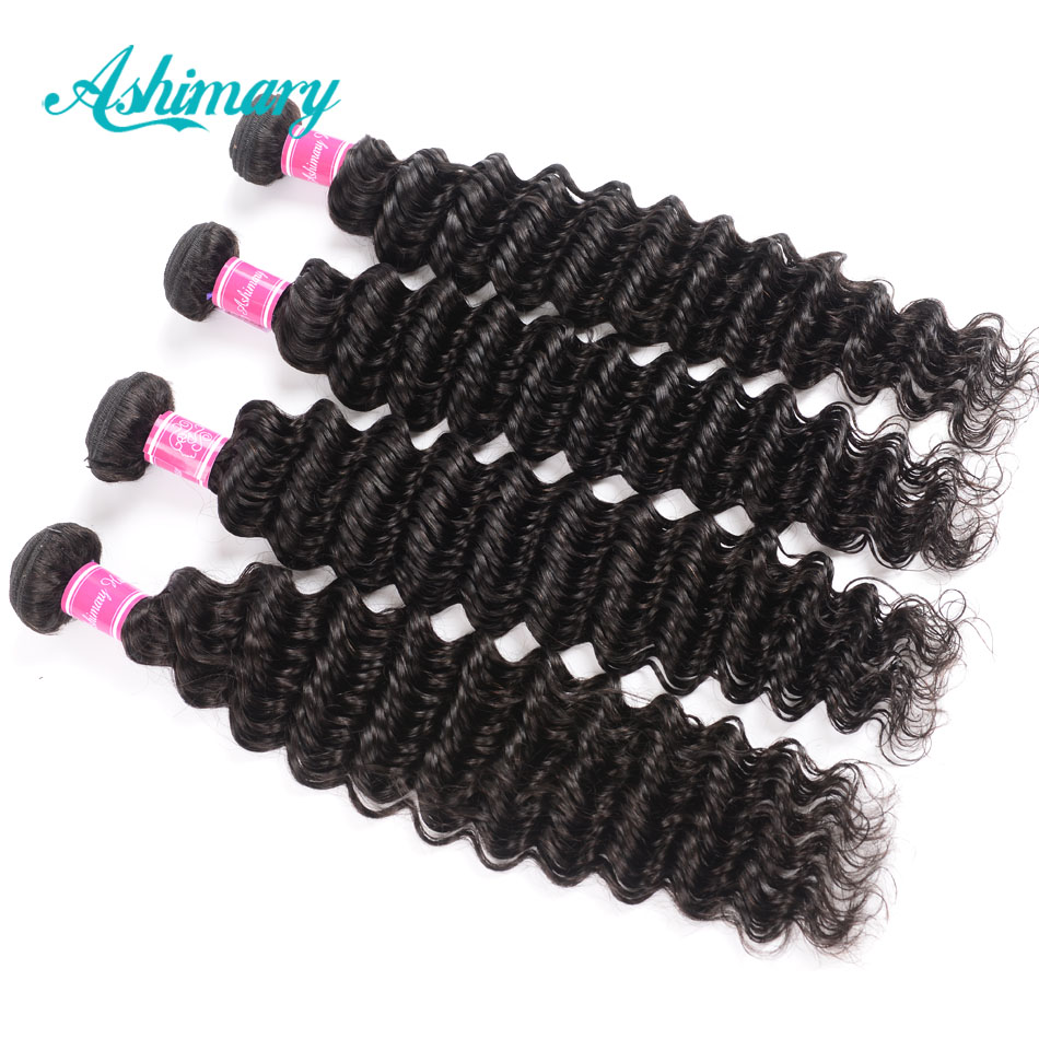 Hffeb516d4f124f229344943080785ce85 Ashimary Deep Wave Brazilian Hair Bundles with Frontal Remy Hair 2/3/4 Bundles with Frontal Human Hair Bundles with Lace Frontal