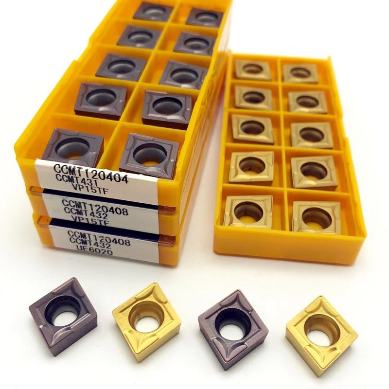 Carbide CCMT120404 CCMT120408 VP15TF UE6020 metal turning tools CNC turning tool turning insert <font><b>CCMT</b></font> <font><b>120408</b></font> cutting tool image