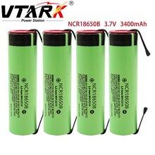 100% original NCR18650B 3,7 V 3400mAh 18650 wiederaufladbare lithium-batterie für 18650 batterie + DIY nickel stück