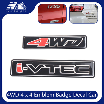 VTEC I-VTEC 3D Sticker For Honda Civic Accord Odyssey Spirior CRV SUV I - VTEC Logo Metal Car Styling Emblem Tail Body Badge image