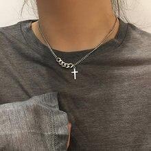Ожерелье педант из нержавеющей стали для женщин готическое колье