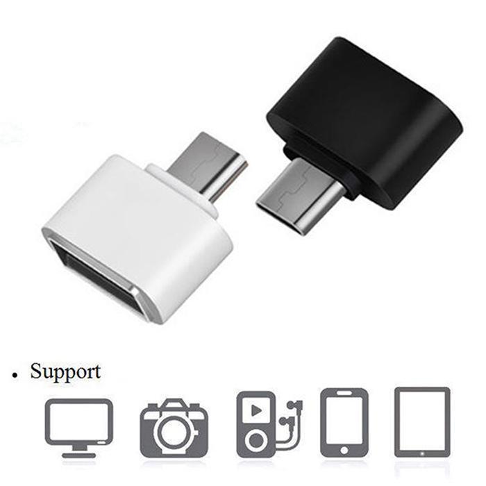 Универсальный телефонный кабель OTG адаптер для передачи данных Micro USB 2,0 V8 мобильный телефон тв камера Android для huawei Xiaomii samsung черный белый
