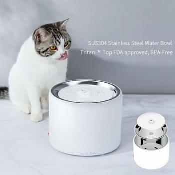 PETKIT 1.35L intelligent fontaine d'eau pour animaux de compagnie en acier inoxydable indicateur de lumière LED