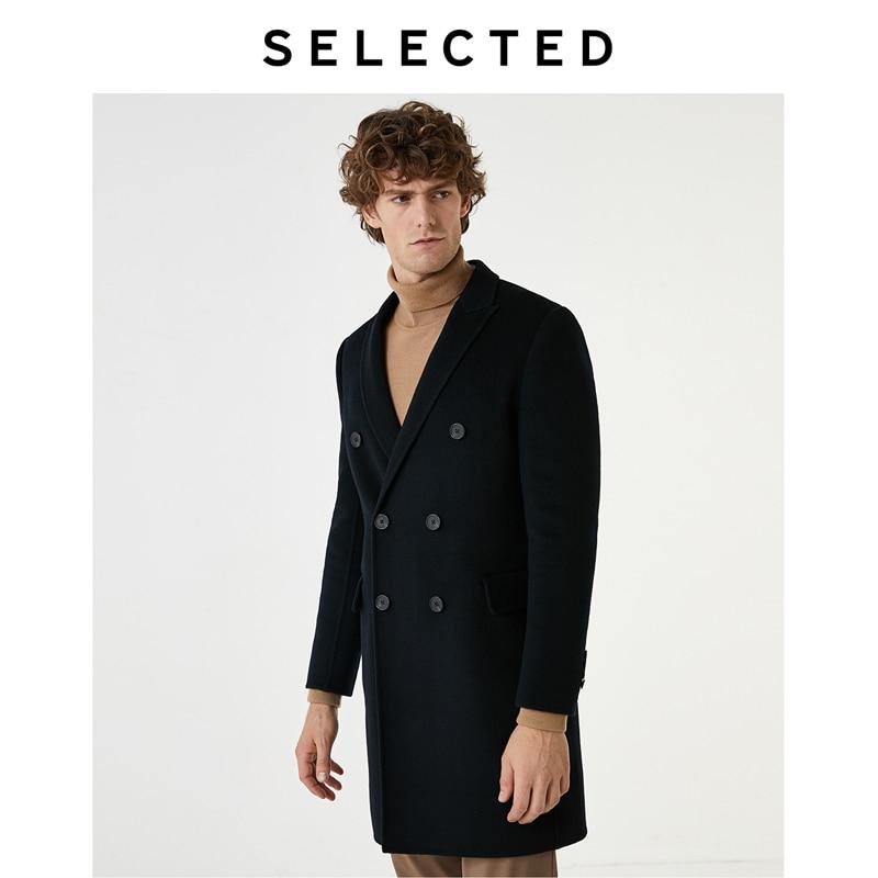 SELECTED Men's Woolen Mid-length Jacket Wool Overcoat Autumn & Winter Coat S | 419327507