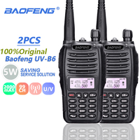 baofeng uv 2pcs Baofeng UV-B6 מכשיר הקשר 5W Samll גודל רדיו Ham Comunicador נייד משדר שני הדרך רדיו UV B6 Woki טוקי רדיו FM (1)