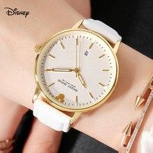 Disney часы календарь кожа корейская версия модных трендовых больших циферблат кварцевые часы студент ремешок женские часы