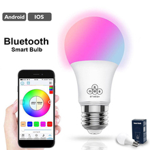 16 Colors Mesh Smart bulb Bombilla Spotlight LED Smart Bulb Bluetooth Bulb Speaker LED Smart Bulb Dimmable LED Bulb Timer mode 3