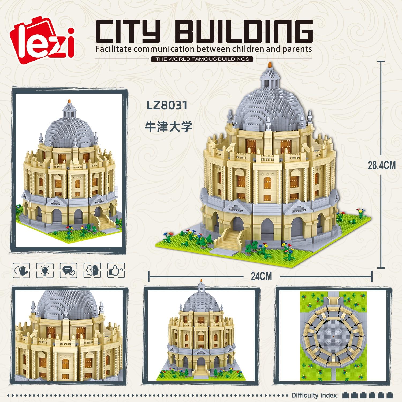 Balody World Famous Architecture Diamond Building Blocks Toy Taj Mahal Vassili Church Big Ben London Bridge 33