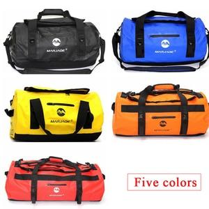 Image 4 - 30/60/90L Outdoor PVC Waterproof Bag Dry Sack Storage Bag for Rafting Canoe Boating Kayaking River Trekking Swimming Travel Bag