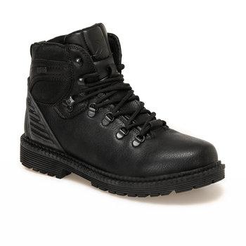 FLO czarne buty męskie wygodne trwałe wędrówki męskie czarne buty Outdoor męskie ELANO KINETIX tanie i dobre opinie Podstawowe Sztuczna skóra ANKLE
