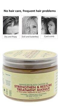 Shea Moisture Castor OilRepairs damage restore soft hair 354ml for all hair types keratin Hair & Scalp Treatment