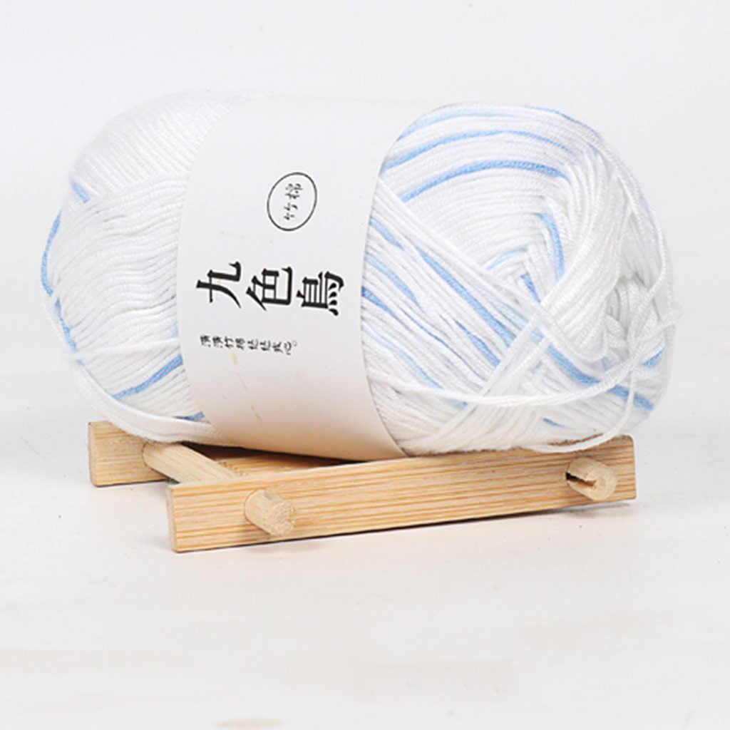 Hilo de ganchillo de algodón de 13 colores para hilo de algodón para tricotar hilo grueso cálido para niños hilo de tejido a mano tejido manta suéter # YH2