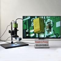 Full HD 1080P 60FPS Sony Sensor Industrial Video 2D 3D microscopio HDMI lupa óptica Chip Detección de componentes electrónicos