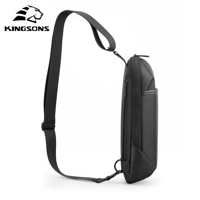 Kingsons Anti-theft Crossbody Bags Male Waterproof Chest Pack Short Trip Messenger Sling Bag Shoulder Chest Bag 4