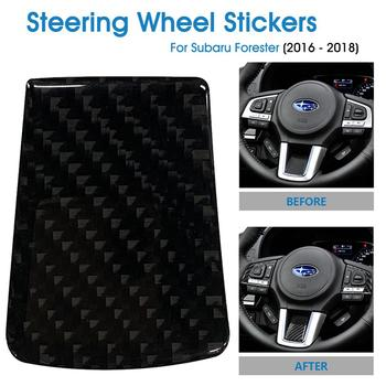 Carbon Fiber Steering Wheel Stickers Frame Trim Cover Auto Decorative Styling Decals Sticker for Subaru Forester (2016-2018) image