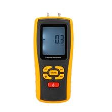 Digital Air Pressure Gauge Manometer Measuring Range 35kPa Temperature Compensation