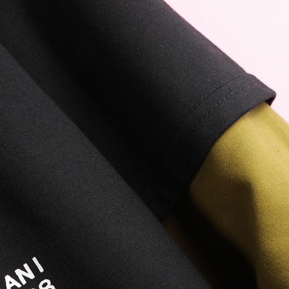 Hoodie Sweatshirt Mens Hip Hop Pullover Hoodies Streetwear Casual Fashion Clothes colorblock hoodie  cotton 5