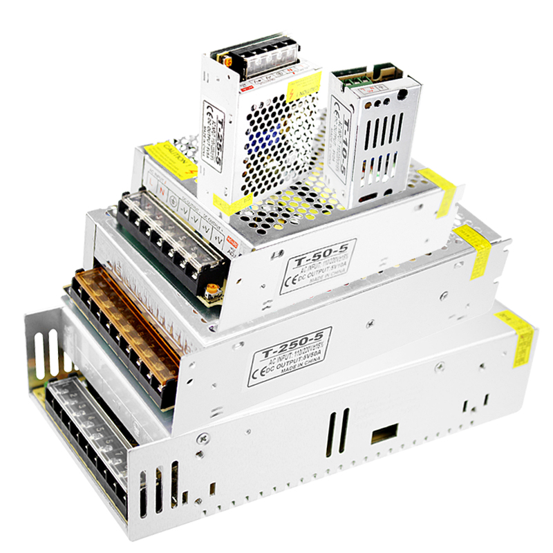 220v AC to DC <font><b>5v</b></font> <font><b>Power</b></font> <font><b>Supply</b></font> Transformer Driver Smps Source Switching <font><b>Power</b></font> <font><b>Supply</b></font> <font><b>5V</b></font> 2a 3a 10a 5 v <font><b>Power</b></font> <font><b>Supply</b></font> for Led Strip image