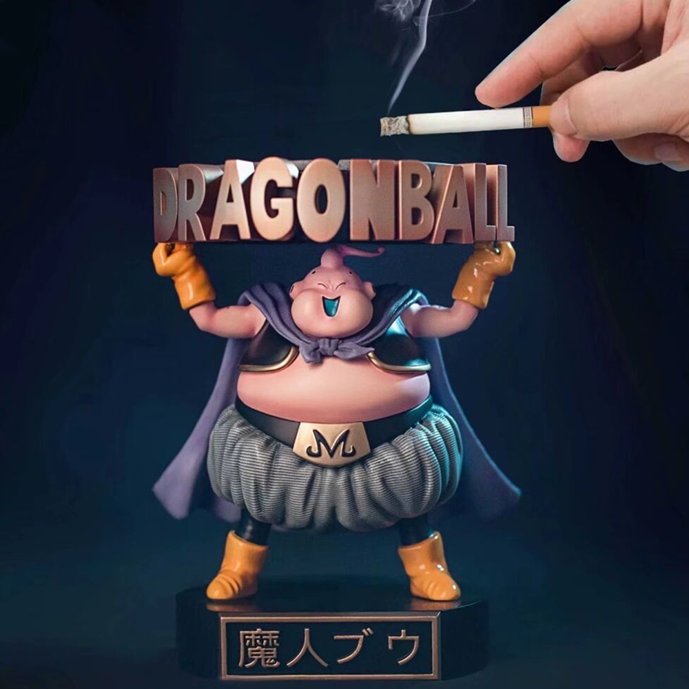 Anime Action Figures Dragon Ball Z Majin Buu Ashtray PVC Toys Model Fat Boo Figurine DBZ Collectible Kids Doll Figma Juguetes