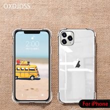 Clear Silicone Case For iPhone 11 Pro Case Transparent Soft TPU Cover For iPhone Xs Max XR XS X 7 8 6 6s Plus 11 Pro Max Case new iphone case for iphone 11 for iphone11 pro max 5 8 inches 6 1 inches 6 8 inches 6 6s 7 8 plus ix xr max x fashion back cover