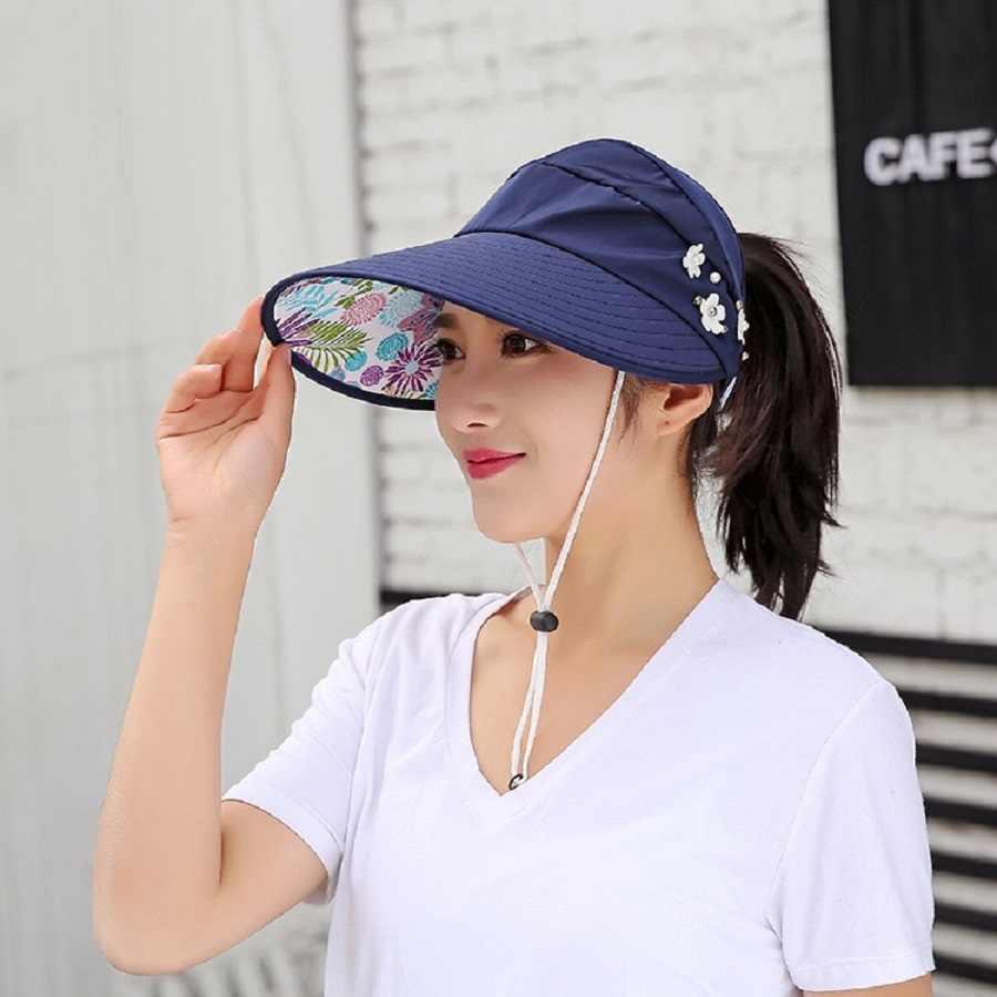 المرأة أقنعة قبعة الصيد فيشر قبعة للشاطئ الأشعة فوق البنفسجية حماية قبعة سوداء عادية المرأة الصيف قبعات