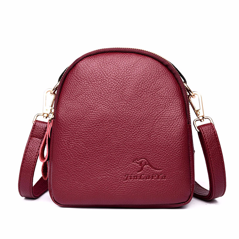 2019 Crossbody Bags For Women Leather Messenger Bags Vintage Sac A Main Mini Female Leather Shoulder Bag Solid Bolsas Clutch Bag