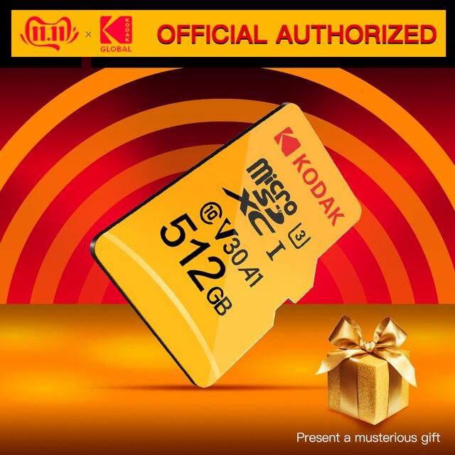 Kodak U3 V30 U1 Class10 MicroSD XC SDHC sd card Memory TF Flash Card 512GB 256GB