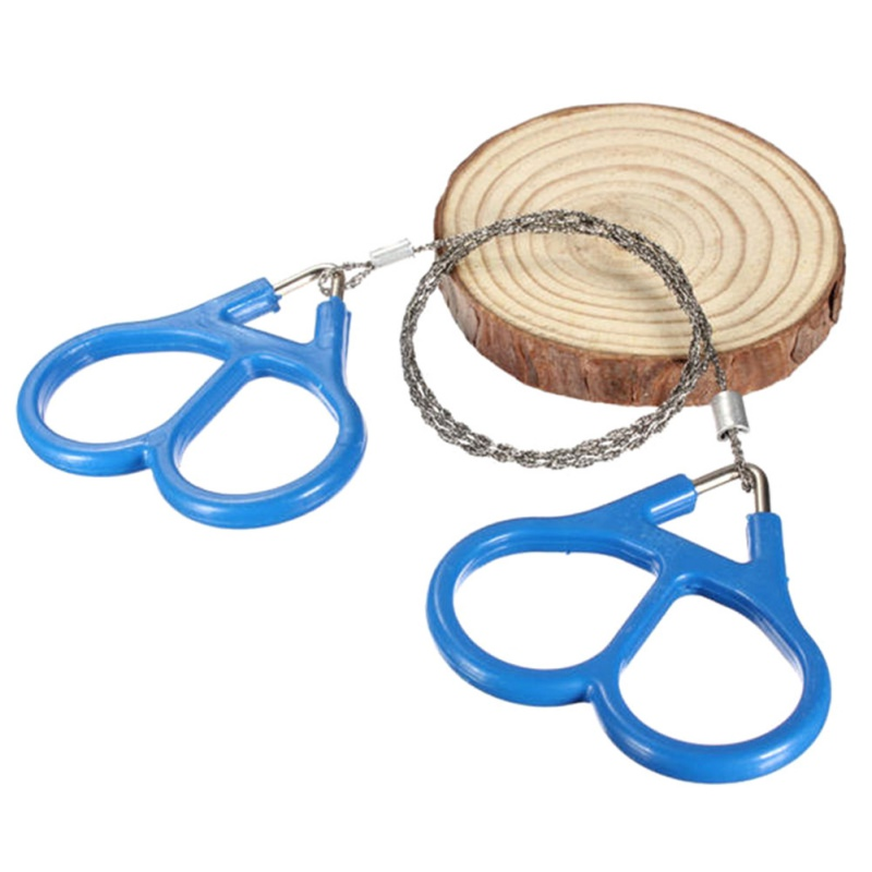 Outdoor Survival Stainless Steel Wire Saw Chain Rope Saw Ring Scroll Travel Camping Hiking Hunting Emergency Survival Tool