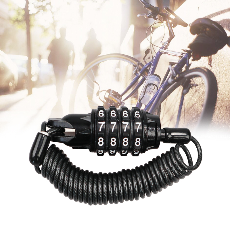 Bicycle Multi-function Wire Lock Password Anti-theft Lock Bicycle Luggage Lock Riding Portable Bicycle Accessories